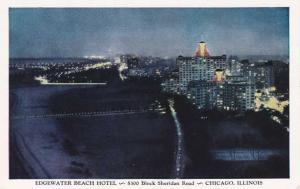 Edgewater Beach Hotel Evening View - Chicago IL, Illinois