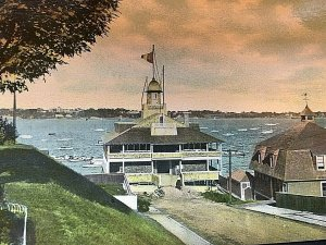 Postcard Antique View of Edgewood Yacht Club in Edgewood, RI.   T5