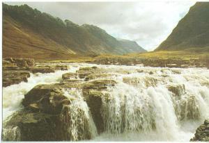 UK, Falls of River Coe, Glencoe, unused Postcard