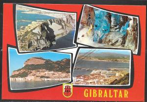 1981 Gibraltar, multi-view card, mailed to West Germany