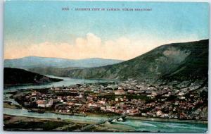 Yukon Territory YT Canada Postcard Birdseye View of DAWSON Mitchell c1910s