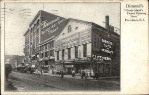 Providence RI Dimond's Store Advertising Postcard c1910