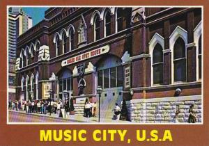 Tennessee Nashville Music City U S A Grand Ole Opry House