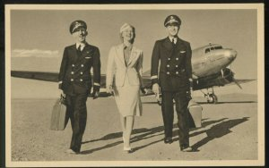American Airlines Flagship vintage These Happy Experts Postcard stewardess