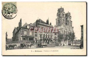 Old Postcard Theater and Cathedral Cafe Orleans Loiret
