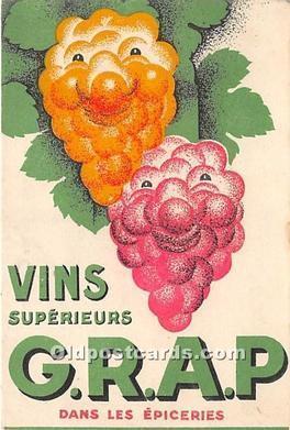 Advertising Postcard - Old Vintage Antique GRAP Dans Les Epiceries Writing on...