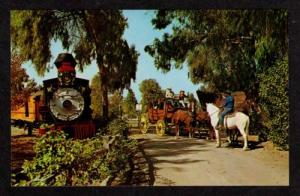 CA Knott's Berry Amusement Park Railroad Train BUENA PARK California Postcard