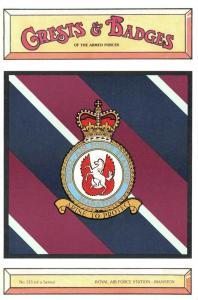 Postcard RAF Royal Air Force Station MANSTON Crest Badge No.133 NEW