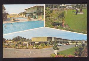 ANAHEIM CALIFORNIA MECCA MOTEL SWIMMING POOL GOLF COURSE VINTAGE POSTCARD