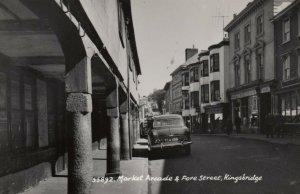 RP: KINGSBRIDGE , Devon , UK ; Market  Arcade & Fore Street , 1940s