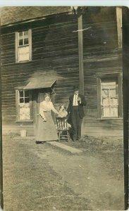 C-1910 Silvana Washington Couple Big House Snohomish RPPC Photo Postcard 21-8747
