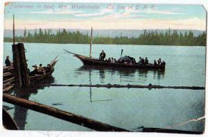 Fisherman in Baot, New Westminster, C.P.R. Line