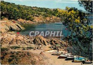 Postcard Modern Creeks Riviera Var Issambres (Var) a Beach Boat