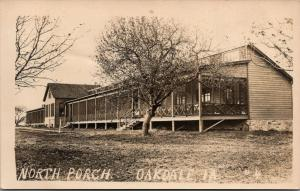 Iowa City~Oakdale Iowa~North Porch Tuberculosis Sanatorium~c1910 RPPC