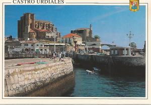 Postal 52334: CASTRO URDIALES - Iglesia de Santa Maria y Faro