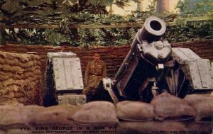 England's King George in a Gun Pit, World War I