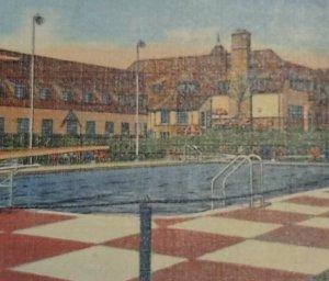 Postcard Cascade Hills Country Club House Pool 1953 Grand Rapids Michigan 24
