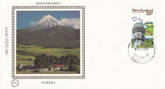 Hawera Mountain New Zealand Benham First Day Cover