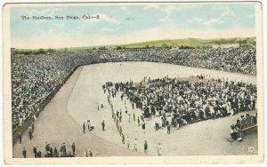 The Stadium, San Diego, California, 1919 postcard, unused