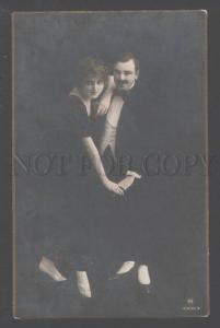 102919 TANGO Dancers ART NOUVEAU Vintage PHOTO tinted PC