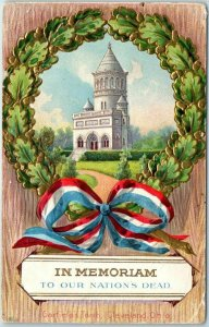 1911 Memorial Day Postcard IN MEMORIAM to our Nation's Dead Garfield's Tomb
