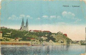 Praha Czech R. - Vysehrad 1918 postcard