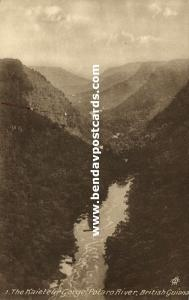 british guiana, Potaro River, Kaieteur Gorge (1930s) Tuck's