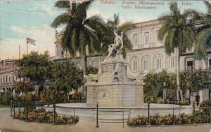 Cuba Havana India Monument 1938