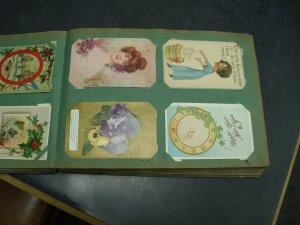Antique Album of Holidays 296 Cards