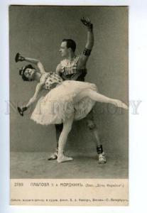 135753 Anna PAVLOVA & MORDKIN Russian BALLET DANCER old PHOTO