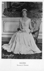 Denmark Queen Ingrid Royalty 1950s RPPC Photo Postcard 21-5714