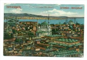 Constantinople(Overprint ISTANBUL). Vue Panoramique des Bazars, Turkey , 00-10s