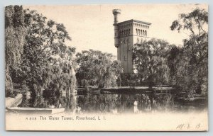Riverhead Long Island NY~Gangrebel Park~Willow Trees~Water Tower~1907 Rotograph