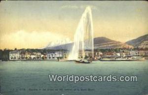 Geneve Swizerland, Schweiz, Svizzera, Suisse Jet d'eau de 90 metres et le Mon...