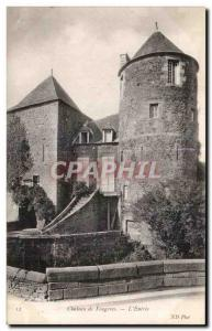 Old Postcard Chateau de Fougeres The Entree
