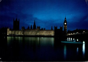 England London Houses Of Parliament By Night