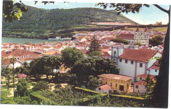 View of Angra do Heroismo, Acores, Azores , Chrome