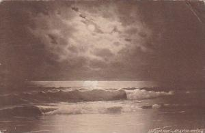 Moonlight Over Ocean Atlantic City New Jersey 1910