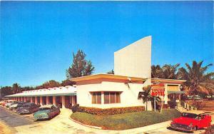 Miami FL The Towne Motel, Old Cars Postcard