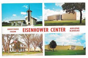 Kansas Abilene Eisenhower Center Multiview Vntg Postcard