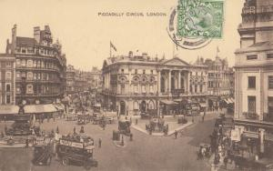 United Kingdom, Piccadilly Circus, London, 1913 used Postcard