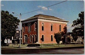 ROCHELLE, Illinois Postcard City and Town Hall Museum Street View 1970s Unused