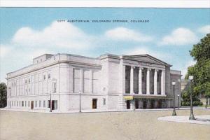 Colorado City Auditorium Colorado Springs