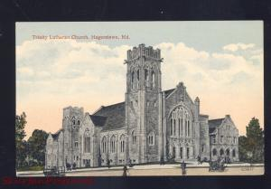 HAGERSTOWN MARYLAND TRINITY LUTHERAN CHURCH ANTIQUE VINTAGE POSTCARD MD.