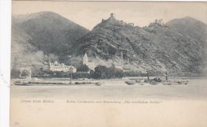 GRUSS VOM RHEIN, Germany, 1900-1910s; Ruine Liebenstein Und Sterrenberg Die ...