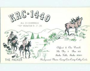 old west WESTERN - QSL CB HAM RADIO CARD Idaho Falls Idaho ID t8713