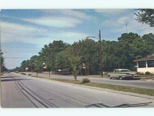 Unused Pre-1980 OLD CARS & TREES ALONG STREET Rehoboth Delaware DE n0834