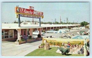 LODI, California CA ~ Roadside LODI EL RANCHO MOTEL c1950s-60s Cars  Postcard