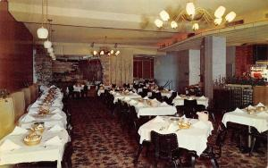 Memphis Tennessee~The Embers Dining Room~1950s Postcard