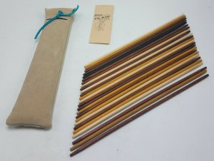 Channel Craft Recreational Woodcraft PICK UP STICKS in Leather Pouch